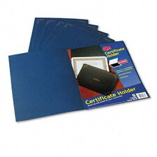 Certificate Holder, 80lb Linen Stock, 12 1/2 x 9 3/4, Dark Blue, Five per Pack