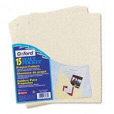 Slash Pocket Project Folders, Jacket, Letter, 15/Pack