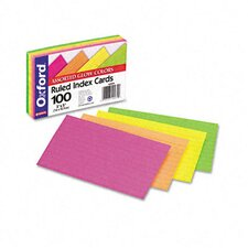 Oxford Ruled Index Cards, 3 X 5, 100/Pack