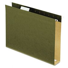 "<strong>Esselte Pendaflex Corporation</strong> Reinforced 2"" Extra Capacity Hanging Folders, Letter, 25/Box"