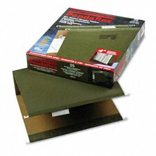 "Reinforced 4"" Extra Capacity Hanging Folders, Letter, 25/Box"