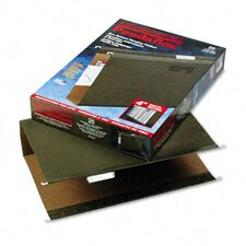 "Reinforced 4"" Extra Capacity Hanging Folders, Kraft, Legal, 25/Box"