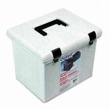 Portafile File Storage Box, Letter, Plastic, 13 7/8 X 14 X 11 1/8