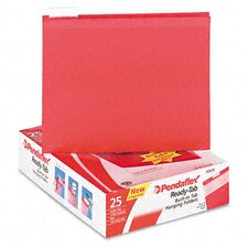 <strong>Esselte Pendaflex Corporation</strong> Ready-Tab Lift Tab Reinforced Hanging File Folders, 1/5 Tab, Letter, 25/Box