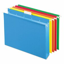 "Ready-Tab Ready-Tab Hanging File Folders, 2"" Capacity, Letter, 20/Box"