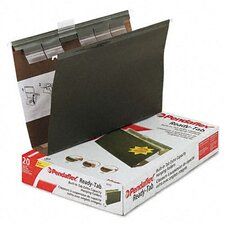 "Ready-Tab Ready-Tab Lift Tab 2"" Capacity Hanging Folders, Legal, 20/Box"