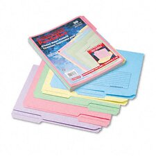 Printed Notes Folders, 1/3 Cut Top Tab, Letter, 30/Pack