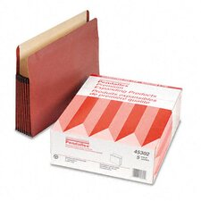 "Watershed Seven"" Expansion File Pocket, Straight Cut, Letter, 5/Box"