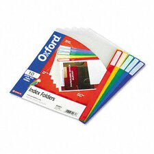 Clear Poly Index Folders, Letter, 10/Pack