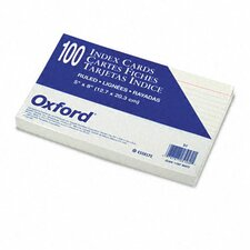 Ruled Index Cards, 5 x 8, White, 100 per Pack