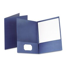 Oxford Twin-Pocket Linen Paper Portfolio