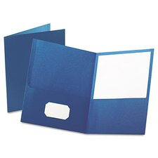 Oxford Twin-Pocket Portfolio, Embossed Leather Grain Paper, 25/Box