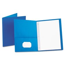 "Oxford Paper Twin-Pocket Portfolio, Tang Fasteners, Letter, 1/2"" Capacity, 25/Box"