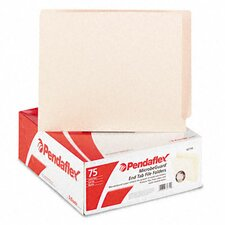<strong>Esselte Pendaflex Corporation</strong> Anti Mold and Mildew End Tab File Folders, Straight Tab, Letter, 75/Box