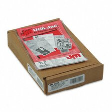 Oxford Utili-Jacs Heavy-Duty Clear Plastic Envelopes, 5 X 8, 50/Box