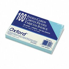 Oxford Unruled Index Cards, 4 X 6, 100/Pack