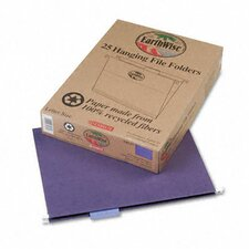 Earthwise Earthwise 100% Recycled Paper Hanging Folders, Kraft, Letter, 25/Box