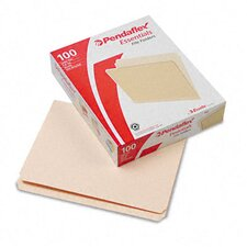 Essentials File Folders, Straight Cut, Top Tab, Letter, 100/Box