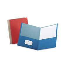 Earthwise By Oxford Earthwise 100% Recycled Paper Twin-Pocket Portfolio, 25/Box