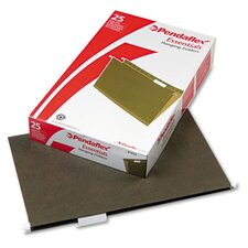 Essentials Hanging File Folders, 1/5 Tab, Legal, 25/Box
