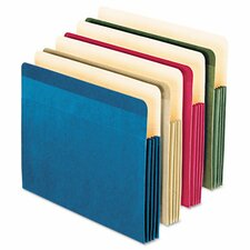 Recycled Colored File Pocket, Letter, 4/Pack