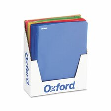 """Oxford Polypropylene Report Cover, Tang Clip, Letter, 1/2"""" Capacity, 25/Box"""