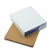 Kraft Angled Tab File Folders, 1/3 Cut, Top Tab, Letter, Brown, 50/Box