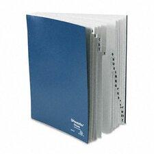 Desk File, A-Z Index, Letter Size, Acrylic-Coated Pressboard