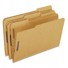 Kraft Two-Fastener Classification Folders with 1/3 Cut Tabs, Legal, 50/Box