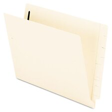 End Tab Expansion Folders, 2 Fasteners, Straight Cut Tab, Letter, 50/Box