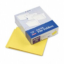 Two-Ply Expansion Folders, Two Fasteners, End Tab, Letter, 50/Box