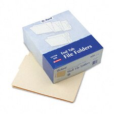 """End Tab Folders, 4"""" Tab, Two Ply, Letter, 100/Box"""