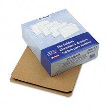Two-Ply Dark Kraft File Folders, Straight Cut, Top Tab, Letter, 100/Box