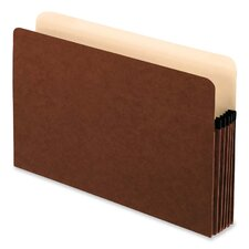 "File Pockets,Antimicrobial,5-1/4"" Exp.,Legal,10/BX,Redrope"