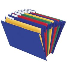 "Mobile/Hanging File,8 Pockets,Ltr,10-1/4""x1-3/8""x14-1/4"",Ast"
