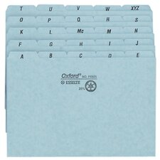 "Self-Tab Card Guides,Pressboard,A-Z,25 PT,9""x6"",25/BX,BE (Set of 25)"