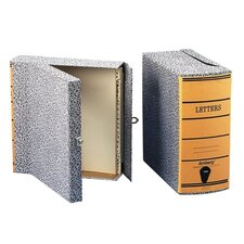 Oxford Box Files, Letter, 2-1/2, Black Marble