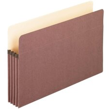 "File Pocket, 3-1/2"" Expansion, 9-1/2""x14-3/4"", Red Fiber"