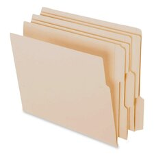End Tab File Folder, 1/3 Assorted Tab Cut, Letter, 100 per Box, Manila
