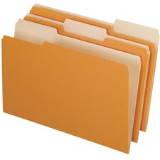 Two-Tone File Folders, 1/3 Cut Top Tab, Legal, 100/Box