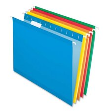Reinforced Hanging File Folders, Letter, Brites, 25/Box