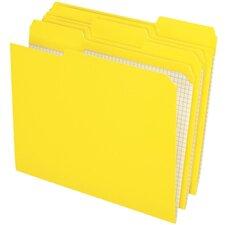 Two-Ply Reinforced File Folders, 1/3 Cut Top Tab, Letter, 100/Box