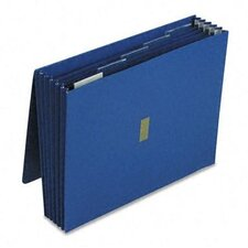 "Colored Poly Wallet, 5 1/4"" Expansion, 6 Pockets, 12 X 10"