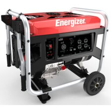 Energizer Portable 6,250 Watt Gasoline Generator with Manual Recoil Start