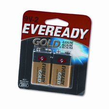 Eveready Gold Alkaline Batteries, 9V, 2 Batteries/Pack