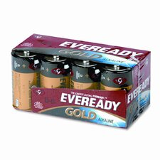 <strong>Energizer®</strong> Eveready Gold Alkaline Batteries, D, 8 Batteries/Pack