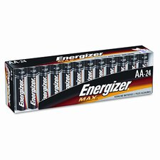 Alkaline Batteries, AA, 24/pack