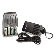 Charger, for 4 Aa or Aaa Nimh Batteries, 15-Minute Charge Cycle