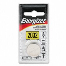 Watch/Electronic/Specialty Battery, 2032, 3 Volt