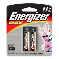 Max Alkaline Batteries, Aa, 2 Batteries/Pack